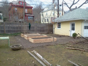 Garden beds built, filled and installed.